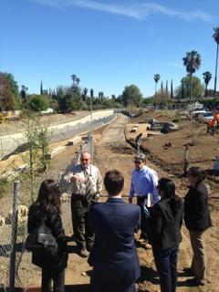Sen. Hertzberg's staff tours the Tujunga Wash Greenway Restoration Project in Sherman Oaks in 2015.